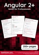 Angular 2+ Notes for Professionals