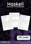 Haskell Notes for Professionals