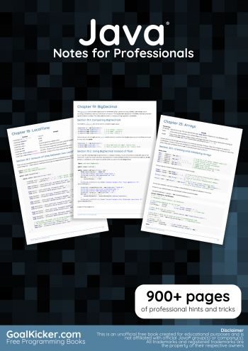 Java Notes for Professionals